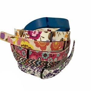 Fitbit flex bundle of 6 floral solid wristbands